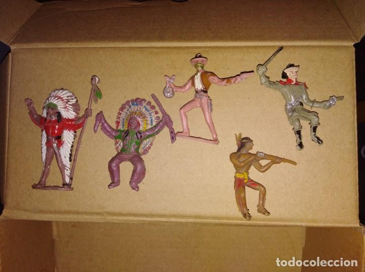 LOTE DE FIGURAS PVC COMANSI INDIOS OESTE VAQUEROS (Toys - Rubber and PVC Figures - Comansi and Novolinea)