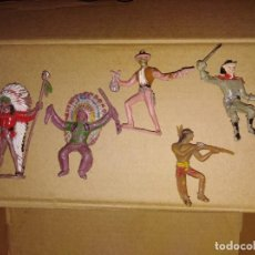 Figuras de Goma y PVC: LOTE DE FIGURAS PVC COMANSI INDIOS OESTE VAQUEROS. Lote 152472878