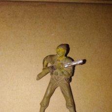 Figuras de Goma y PVC: SOLDADO JAPONESES CONTRA AMERICANOS PUENTE SOBRE EL RÍO KUAIT EN GOMA. Lote 152473406