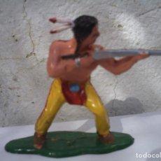 Figuras de Goma y PVC: INDIO SIUX DE LA BATALLA DEL LITTER BING HORN DE REAMSA. Lote 152537334