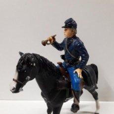 Figuras de Goma y PVC: HENRY WILLIAM A CABALLO . HEROES OF THE WEST . REALIZADO POR COMANSI. Lote 152565038