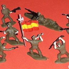 Figuras de Goma y PVC: SOLDADOS LEGIÓN ESPAÑOLA LEGIONARIOS REF. 4501, EKO H0 1/87, ORIGINAL AÑOS 70. COMPLETO.. Lote 222511542