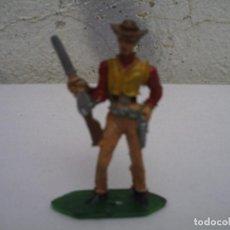 Figuras de Goma y PVC: VAQUERO DE 5 CTM DE COMANSI. Lote 152639462