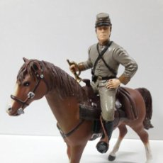 Figuras de Goma y PVC: JAMES LANGTRY A CABALLO . HEROES OF THE WEST . REALIZADO POR COMANSI. Lote 152642978