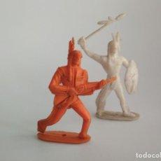 Figuras de Goma y PVC: FIGURAS INDIOS 60MM. Lote 152782974