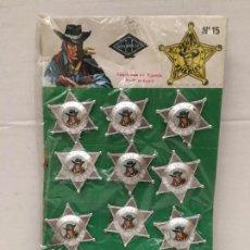 Figurines en Caoutchouc et PVC: BLISTER CON 12 ESTRELLAS DE SHERIF DE GONZALEZ AÑOS 70. Lote 152834250