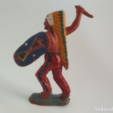 Figuras de Goma y PVC - Figura indio Pech hnos goma años 50 - 153044538