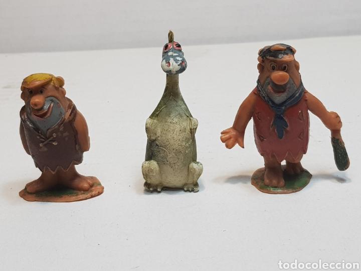 FIGURAS JECSAN PEDRO,PABLO Y DINO PICAPIEDRA ESCASOS SERIE HANNA BARBERA (Juguetes - Figuras de Goma y Pvc - Jecsan)