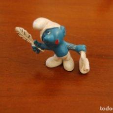 Figuras de Goma y PVC: PITUFO ESCRITOR. SCHLEICH. PEYO.. Lote 153141222