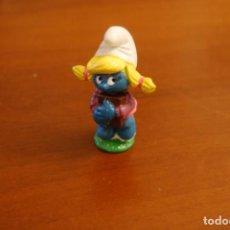 Figuras de Goma y PVC: PITUFO. PITUFINA. SCHLEICH. PEYO.. Lote 153142394