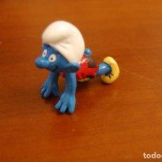 Figuras de Goma y PVC: PITUFO ATLETA. SCHLEICH. PEYO.. Lote 153739837