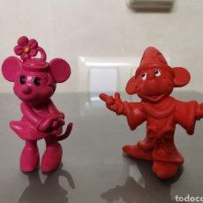 Figuras de Goma y PVC: 2X FIGURAS GOMA MICKEY Y MINNIE MOUSE BULLY 1984. Lote 153153830