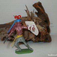 Figuras de Goma y PVC: FIGURA DE PLASTICO GUERRERO MEDIEVAL DESMONTABLE TIMPO TOYS. Lote 153455818