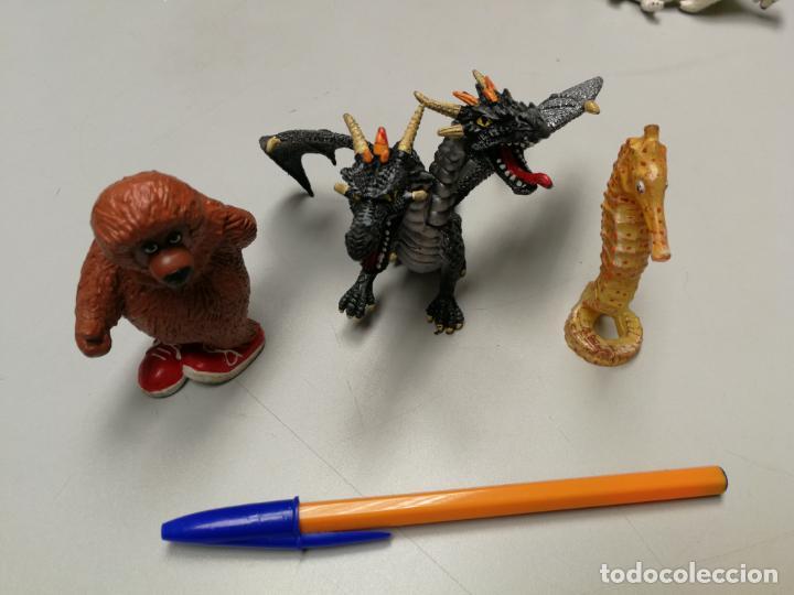 4 FIGURAS BULLYLAND ANIMALES PINTADOS A MANO, OSO, DRAGON Y CABALLINTO DE MAR GERMANY (Juguetes - Figuras de Goma y Pvc - Bully)