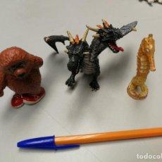 Figuras de Goma y PVC: 4 FIGURAS BULLYLAND ANIMALES PINTADOS A MANO, OSO, DRAGON Y CABALLINTO DE MAR GERMANY. Lote 153465586