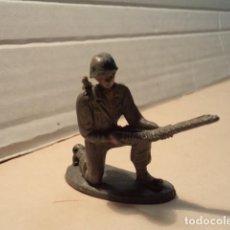 Figuras de Goma y PVC: FIGURA DE PLÁSTICO AMERICANOS EN COMBATE PECH. Lote 153867866