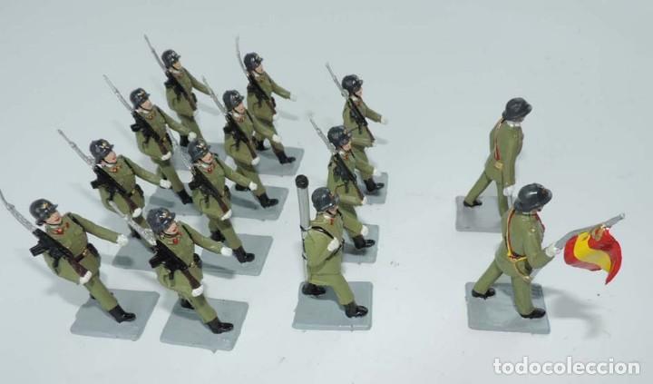 Figuras de Goma y PVC: SOLDIS DESFILES LA INFANTERIA ESPAÑOLA, REAMSA SIN CAJA, MUY BUEN ESTADO COMPLETOS. - Foto 7 - 154126238