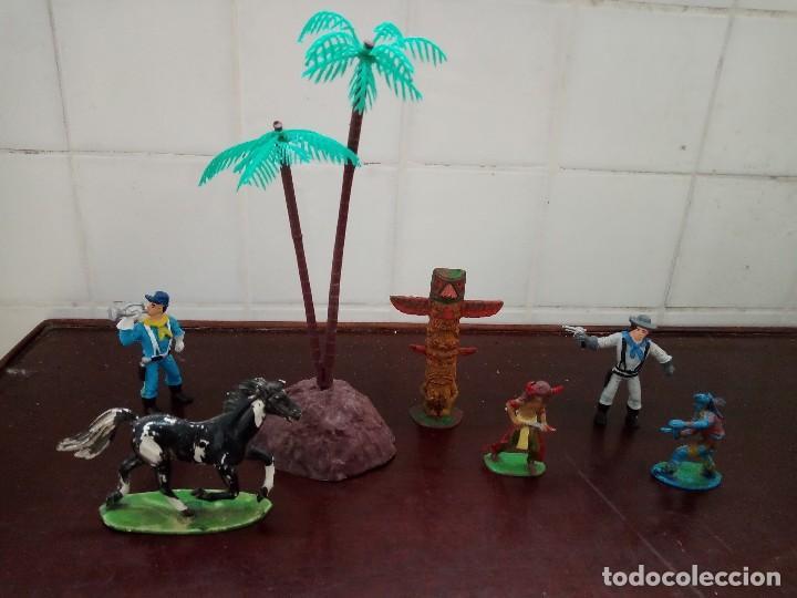 COMANSI REAMSA JECSAN PECH INDIOS VAQUEROS LOTE (Juguetes - Figuras de Goma y Pvc - Comansi y Novolinea)