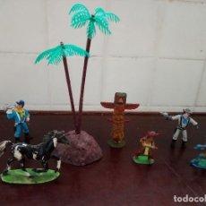 Figuras de Goma y PVC: COMANSI REAMSA JECSAN PECH INDIOS VAQUEROS LOTE . Lote 154142574