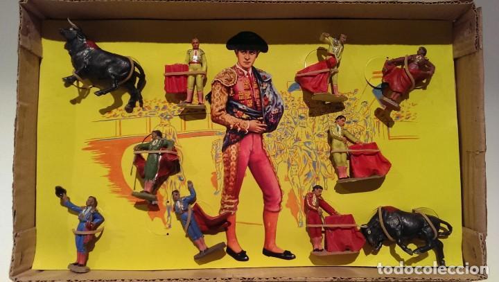 Figuras de Goma y PVC: PECH CAJA ORIGINAL COMPLETA CORRIDA DE TOROS años 60 (NO REAMSA JECSAN) - Foto 2 - 154150594