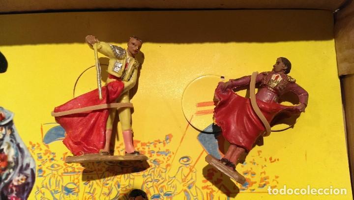 Figuras de Goma y PVC: PECH CAJA ORIGINAL COMPLETA CORRIDA DE TOROS años 60 (NO REAMSA JECSAN) - Foto 4 - 154150594