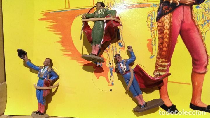 Figuras de Goma y PVC: PECH CAJA ORIGINAL COMPLETA CORRIDA DE TOROS años 60 (NO REAMSA JECSAN) - Foto 5 - 154150594
