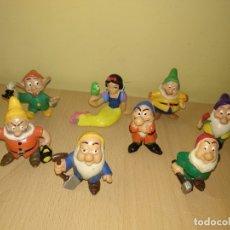 Figuras de Goma y PVC: LOTE 8 FIGURAS BLANCANIEVES Y LOS SIETE ENANITOS COMICS SPAIN WALT DISNEY PVC. Lote 123132531