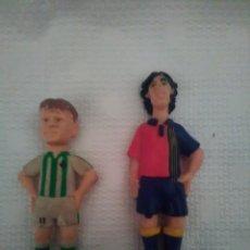 Figuras de Goma y PVC: FIGURAS ANTIGUAS DE FUTBOLISTA EN MINIATURA.. Lote 154270802