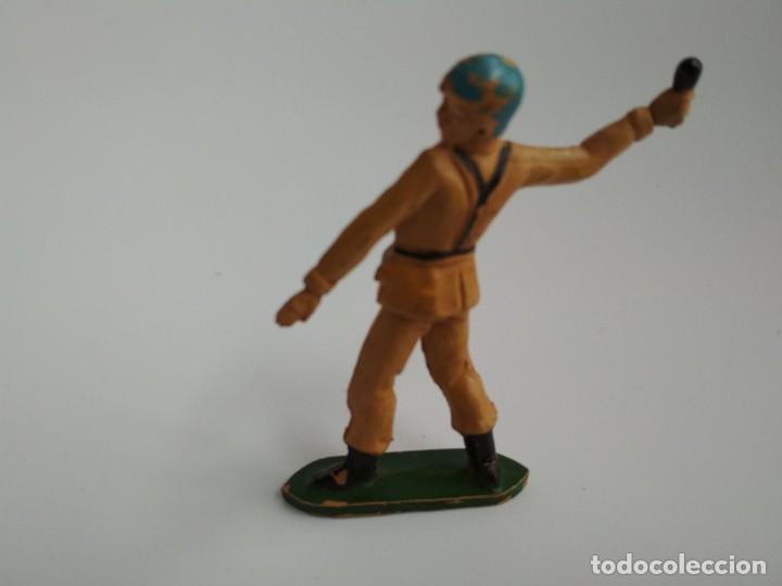 FIGURA SOLDADO MARRÓN TEIXIDO GOMA (Juguetes - Figuras de Goma y Pvc - Teixido)