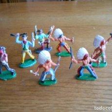 Figuras de Goma y PVC: INDIOS Y VAQUEROS SOTORRES. NO COMANSI, JECSAN, REAMSA. Lote 154359146