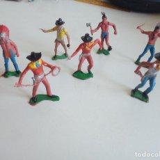 Figuras de Goma y PVC: COMANSI REAMSA JECSAN FALOMIR PECH OLIVER INDIOS VAQUEROS. Lote 154397538