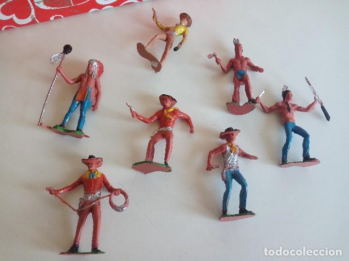 Figuras de Goma y PVC: COMANSI REAMSA JECSAN FALOMIR PECH OLIVER INDIOS VAQUEROS - Foto 2 - 154397538