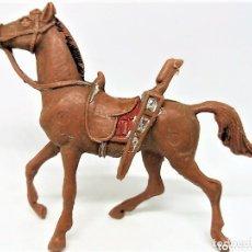 Figuras de Goma y PVC: ANTIGUA FIGURA DEL OESTE COMANSI EN PLÁSTICO. CABALLO COWBOY. SERIE 65 MM. Lote 154433926