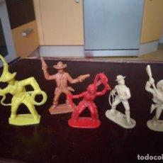 Figuras de Goma y PVC: COMANSI REAMSA JECSAN ELASTOLON PECH OLIVER INDIOS VAQUEROS. Lote 154464374