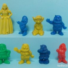 Figuras de Goma y PVC: LOTE BLANCANIEVES Y SIETE ENANITOS - FIGURAS TIPO DUNKIN. Lote 154485210
