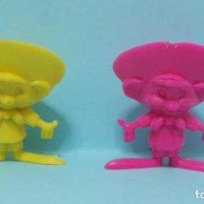 Figuras de Goma y PVC: WARNER LOONEY TUNES - FIGURAS DUNKIN - LOTE 3 - SPEEDY GONZALEZ - VARIANTES COLORES. Lote 154485878
