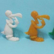 Figuras de Goma y PVC: WARNER LOONEY TUNES - FIGURAS DUNKIN - LOTE 4 - VARIANTES COLORES. Lote 154485914