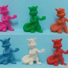 Figuras de Goma y PVC: WARNER LOONEY TUNES - FIGURAS DUNKIN - LOTE 14 - VARIANTES COLORES. Lote 154486490