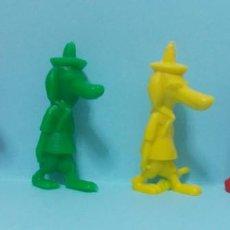 Figuras de Goma y PVC: WARNER LOONEY TUNES - FIGURAS DUNKIN - LOTE 18 - VARIANTES COLORES. Lote 154486670