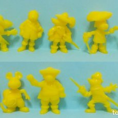 Figuras de Goma y PVC: DARTACAN - FIGURAS DUNKIN - LOTE COLECCION AMARILLA - 2. Lote 154486858