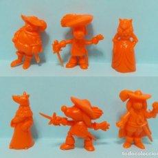 Figuras de Goma y PVC: DARTACAN - FIGURAS DUNKIN - LOTE COLECCION NARANJA. Lote 154486882