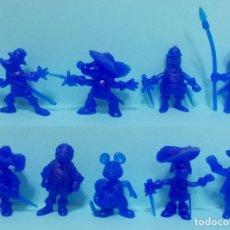 Figuras de Goma y PVC: DARTACAN - FIGURAS DUNKIN - LOTE COLECCION AZUL. Lote 154486930