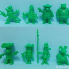 Figuras de Goma y PVC: DARTACAN - FIGURAS DUNKIN - LOTE COLECCION VERDE. Lote 154486962