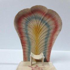 Figuras de Goma y PVC: TRONO AFRICANO . ORIGINAL REALIZADO POR PECH . AÑOS 50 / 60. Lote 154491554
