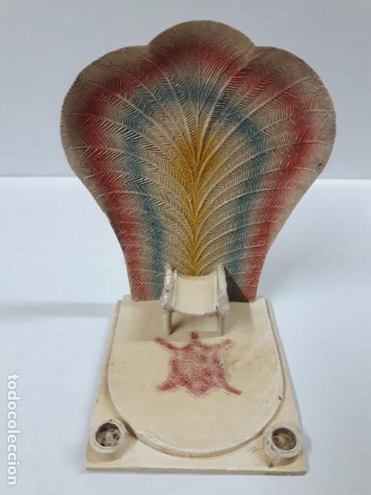 Figuras de Goma y PVC: TRONO AFRICANO . ORIGINAL REALIZADO POR PECH . AÑOS 50 / 60 - Foto 2 - 154491554