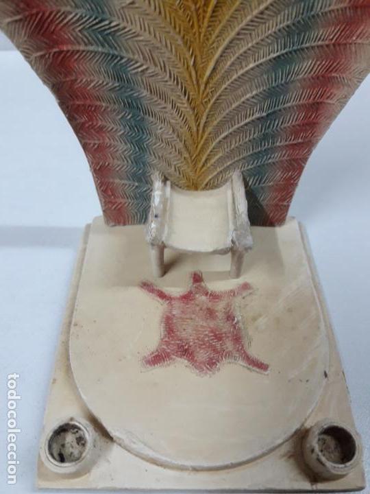 Figuras de Goma y PVC: TRONO AFRICANO . ORIGINAL REALIZADO POR PECH . AÑOS 50 / 60 - Foto 3 - 154491554