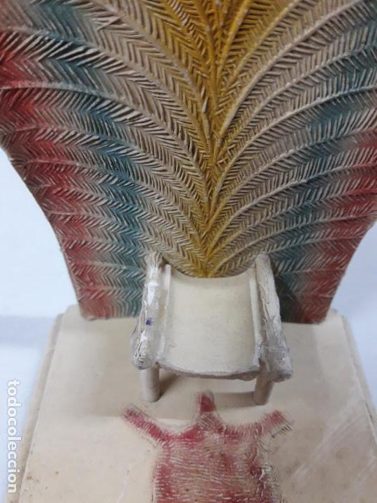 Figuras de Goma y PVC: TRONO AFRICANO . ORIGINAL REALIZADO POR PECH . AÑOS 50 / 60 - Foto 4 - 154491554
