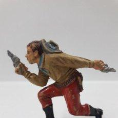 Figuras de Goma y PVC: VAQUERO - COWBOY . REALIZADO POR TEIXIDO . AÑOS 50 EN GOMA. Lote 154516414