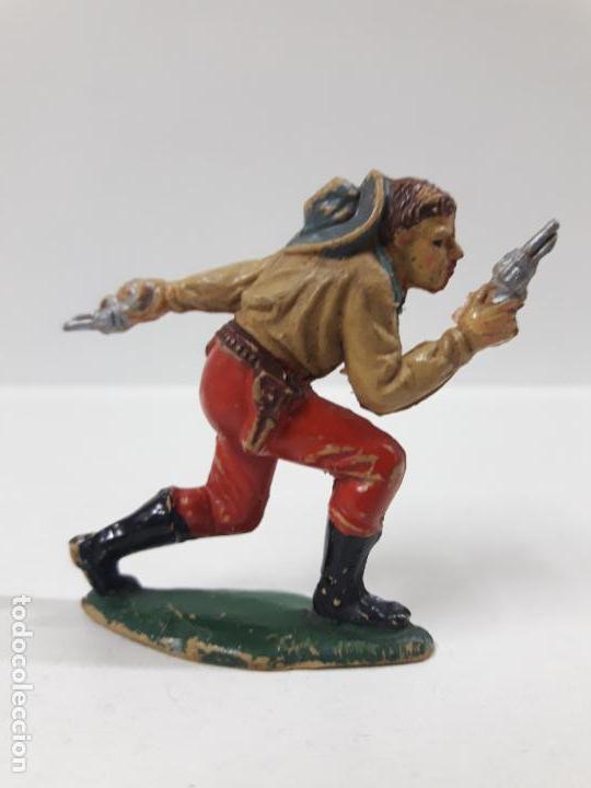 Figuras de Goma y PVC: VAQUERO - COWBOY . REALIZADO POR TEIXIDO . AÑOS 50 EN GOMA - Foto 2 - 154516414