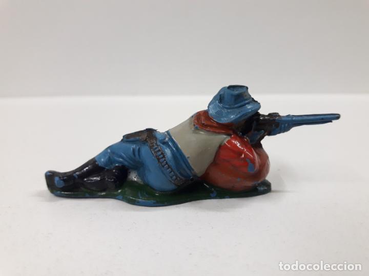 Figuras de Goma y PVC: VAQUERO - COWBOY . REALIZADO POR TEIXIDO . AÑOS 50 EN GOMA - Foto 2 - 154521402